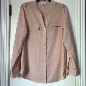 Calvin Klein Button-Up (Pale Pink)